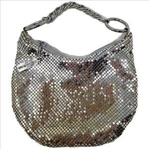 WHITING & DAVIS Silver Chainmail Mini Evening Bag